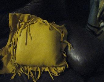 Elk Hide 12 inch square pillow