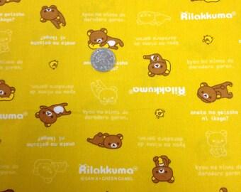 Japanese Fabric San- X  Rilakkuma Characters