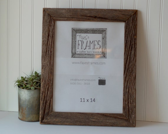 Items similar to 11x14 Reclaimed Barn Board Frame - Single ...
