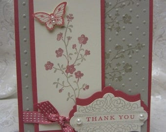 Hand Made Elegant Butterfly Card