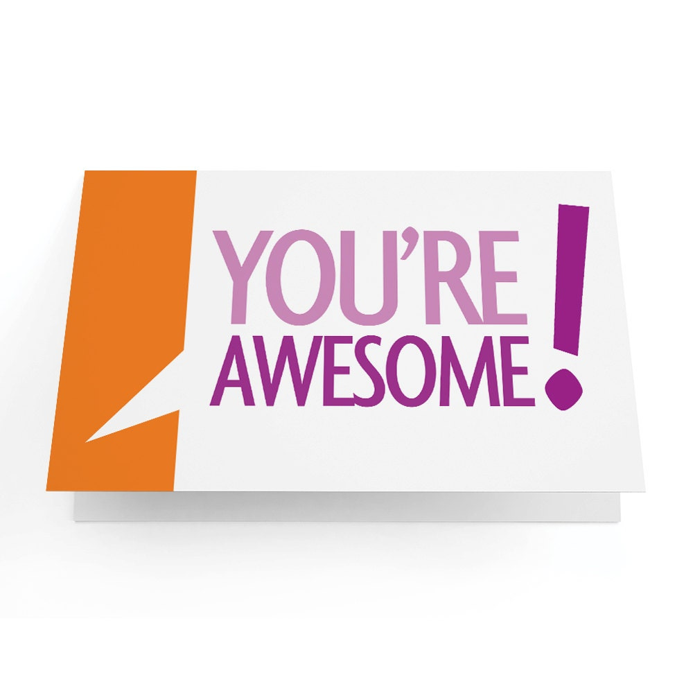 You Re Awesome: You're Awesome Greeting Card Pack Of 10