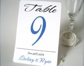 "Custom table numbers 4"" x 6 , personalized wedding table numbers cards, set of 10 - PaperLovePrints"