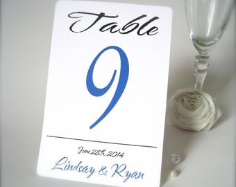 "Custom table number 4"" x 6 , personalized wedding table number card, wedding table number card, wedding reception decor"