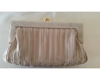 1970s Pleated Evening Clutch