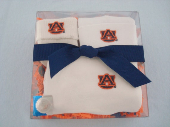 Auburn Tigers 3 Piece Baby Clothing Gift Set by