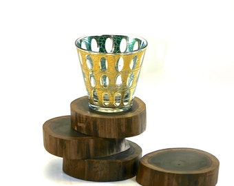 Live Edge Walnut Wood Coasters Trivets