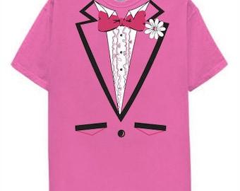 Pink Tuxedo T Shirt