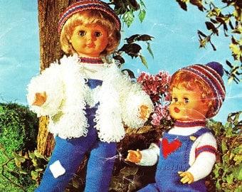 """Vintage Argyll 862 knitting pattern for 20"""" dolls - digital download"""