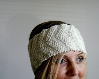 PATTERN chevron knit headband earwarmer pdf