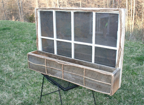 Old Window Planter Box!!! Vintage Garden Decor:)