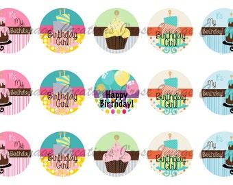 Birthday Cakes, Happy Birthday, Birthday Girl Bottle cap images *coupon codes in description*