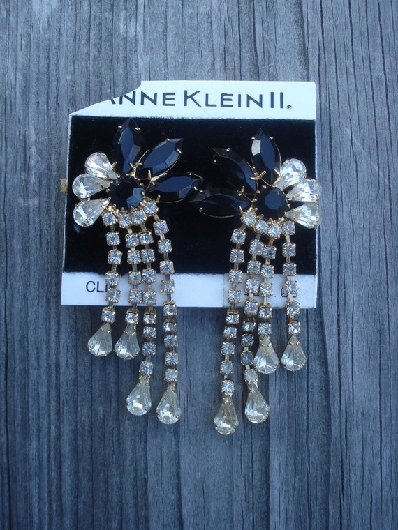 Anne Klein II Earrings Vintage Costume Jewelry 01818