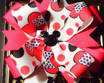 Hot Pink Minnie Mouse Bow/ Clip...