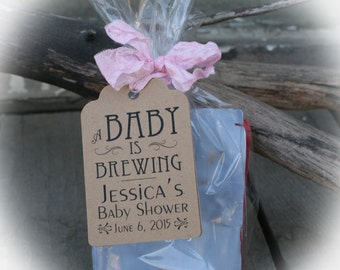 Baby is Brewing Favor Kits, Tea Baby Shower Favor Kits, Coffee Baby Shower Favor Kits, A Baby is Brewing, Baby Shower Favor Kits