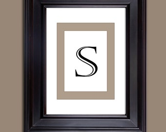 Monogram Prints - Letter Prints - Download only - Letter S  10 x 8 and 11 x 14
