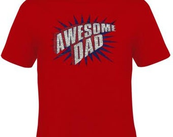 awesome dad father t shirt clothes love T Shirts Tees, Tee design funny cool gift mom dad gifts