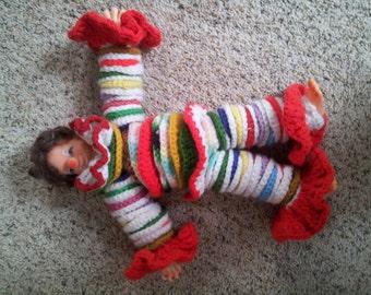 1960s Crochet Disc Clown