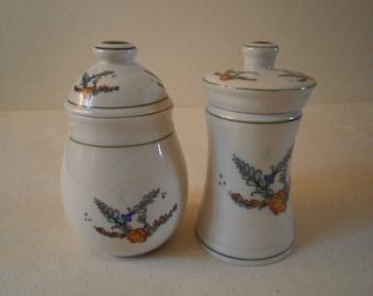 Spice jars salt pepper herb culinary ceramic french porcelain crafts