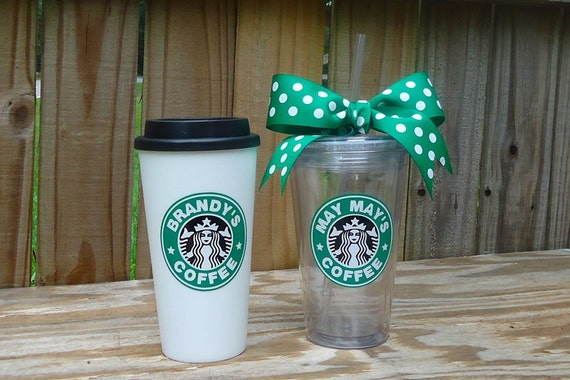 Personalized starbucks tumbler available in 16 for Starbucks personalized tumbler template