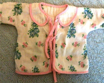 Vintage 1950's doll sacque or bed jacket