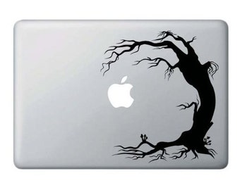 Laptop decal – Laptop Sticker – Macbook Pro decal – Macbook Air decal – Car window – Hipster - Scary tipping tree