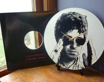 Noel Gallagher - Oasis 12″ Vinyl Record Wall Clock, high flying birds, liam gallagher, definitely maybe