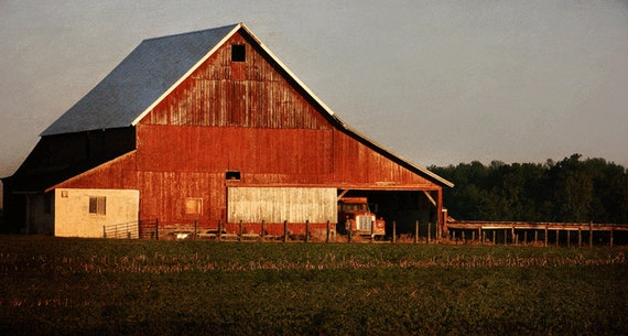 Items Similar To Rustic Barn Red Barn 2 Rustic Home Decor