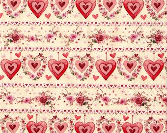 """6 Decoupage  Paper Napkins Serviette Tracery Hearts 33x33 cm. 13""""x13"""" 6 pcs"""