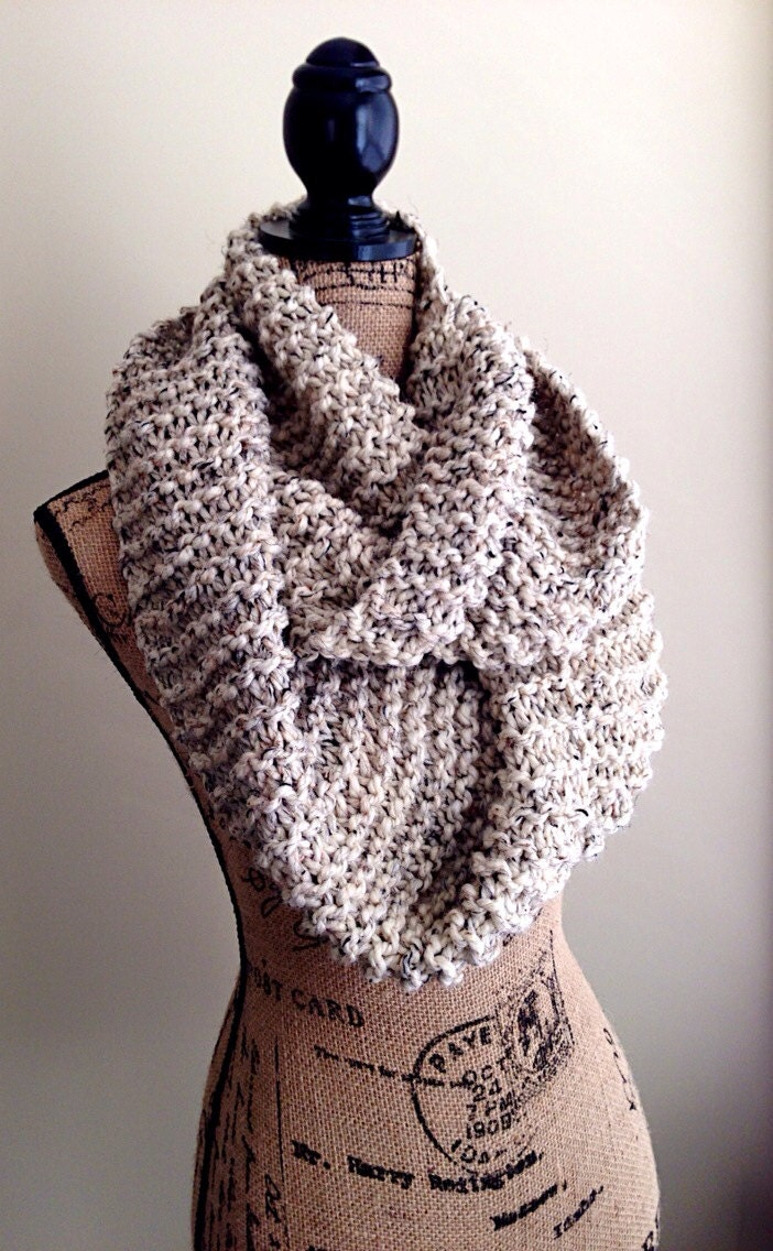 knit infinity scarf womens winter cowl scarf by
