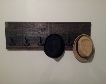 Old Barn Wood 6 Hook Coat Rack