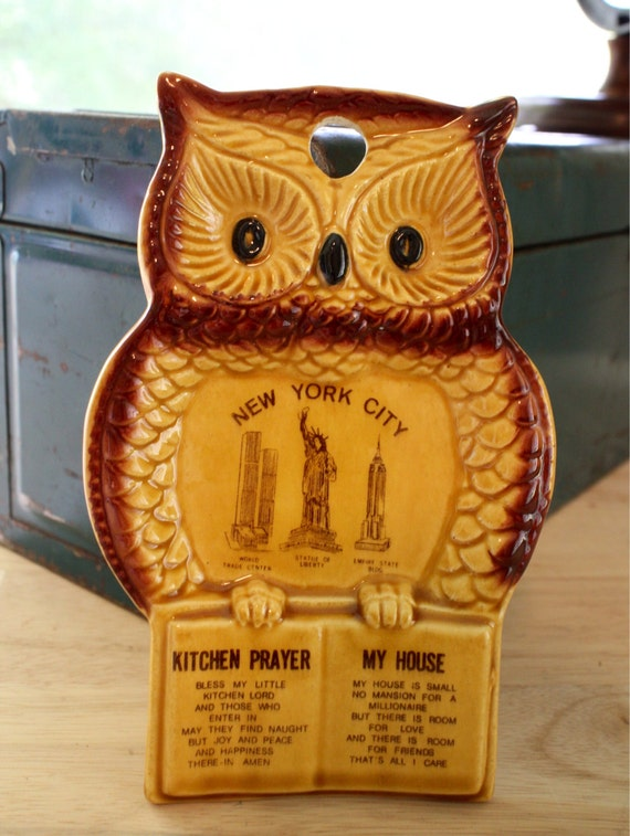 Vintage owl kitchen decor souvenier by inthebusinessofcool Owl kitchen accessories