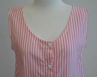 Sweet 80's Candy Stripe Sundress