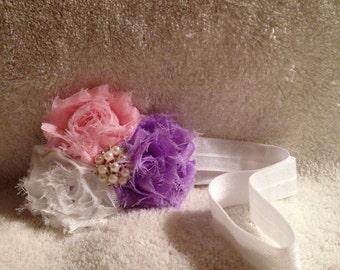 Shabby chiffon flower headband