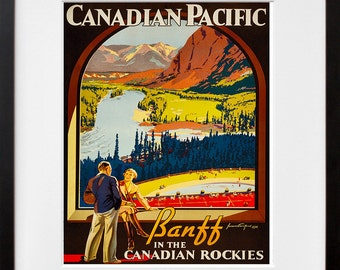 Art Canada Poster Travel Print Vintage Banff Home Decor (ZT111)
