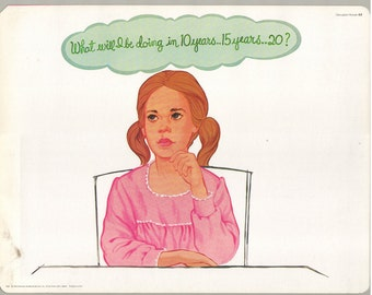 1974 Educational Illustrations - What Will I Be Doing...?
