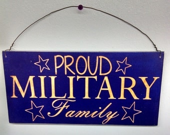 Military Sign, Proud Military Family Sign