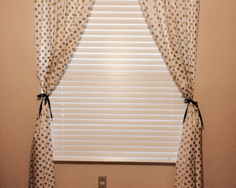 White with Gold Dots Curtains, Panels ~ Michael Miller Glitz