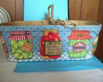Vintage basket for mason jars