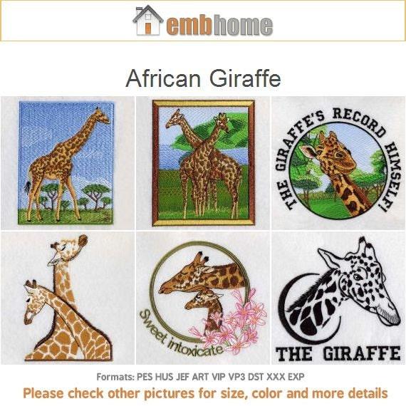 Items similar to african giraffe realistic animals machine