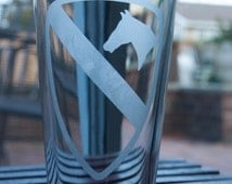 1st Cav, 1st Cavalry Division  Etched Pint Glass, Made in the USA