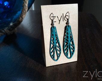Leather Earrings - Tribal Long