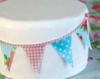 Edible wafer paper Bunting