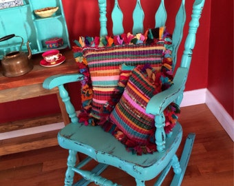 SAMPLE ONLY - Shabby Chic Wooden Rocking Chair