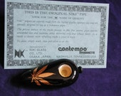 Vintage Niki Ceramic Tobaccco Herbal Smoking smoke pipe 1978  Very Rare w/ COA