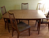 Items similar to Keller Mid Century Modern Dining Table Danish ...