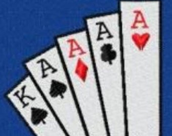 10 Poker Embroidery Design Files 4x4