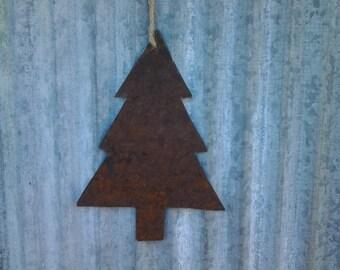 Reclaimed Barn Tin Christmas tree Ornament