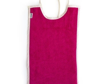 Baby Toddler Bib Cotton Large Long For Eating - Color: PINK
