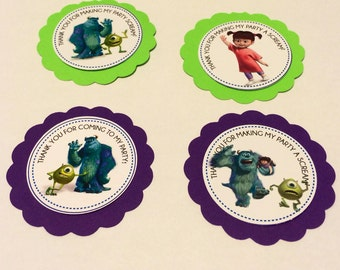 Monsters INC Thank you Tags