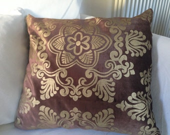 Brocade gold-brown pillowcase cm 40x40